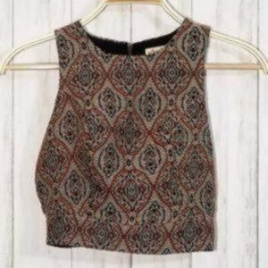 Hollister Music Festival Beaded Cropped Top NWT
